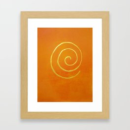 Infinity Bright Orange With Gold Abstract Modern Art Painting Framed Art Print