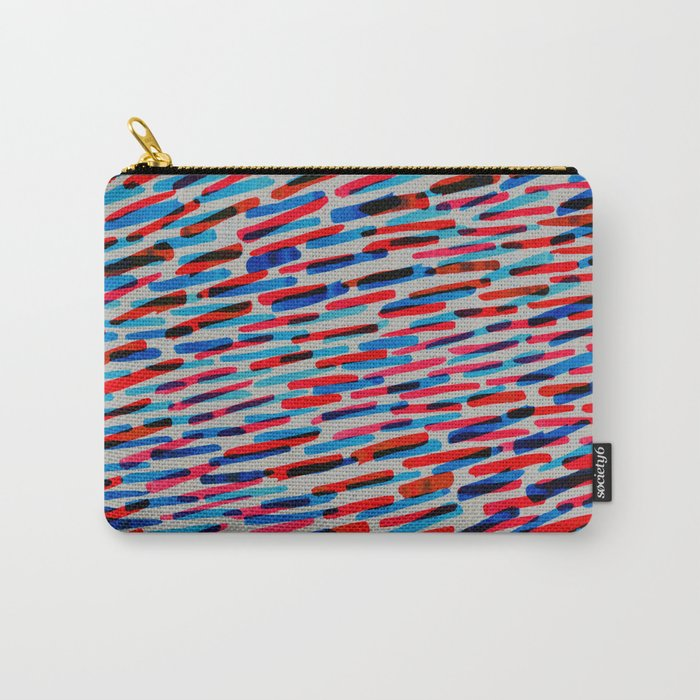 blue and red Carry-All Pouch