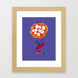 Pizza and Pilates Framed Art Print