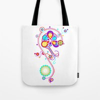 psychedelic Tote Bags featuring Psychedelic by tuditees