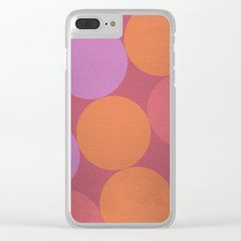 Sunset Shadows Moon Clear iPhone Case