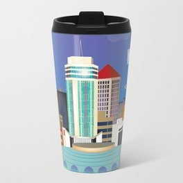 Wichita, Kansas - Skyline Illustration by Loose Petals Travel Mug