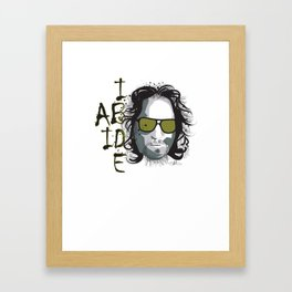 The Dude - Big Lebowski INK Framed Art Print