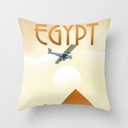 Egypt Travel poster Throw Pillow
