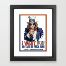 The Dude Wants YOU Framed Art Print