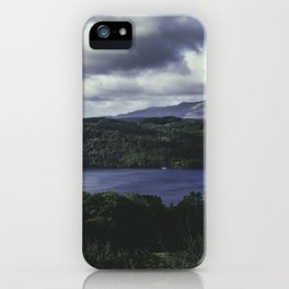Moody Lake Windermere - Landscape and Nature Photography iPhone Case