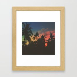 palm trees and vintage dreams Framed Art Print