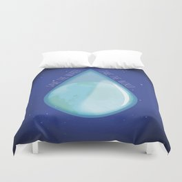 Save the water, Save the world Duvet Cover