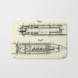 Submarine Torpedo Boat 02-1910 Bath Mat