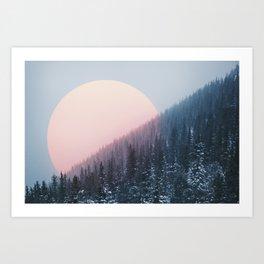 Peach Sunrise Art Print