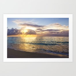 Bubble Sunset Cayman Islands Art Print