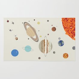 The Solar System - Planets, Moons, and Dwarf Planets Rug