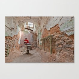 Abandoned Barber Prison Cell Canvas Print