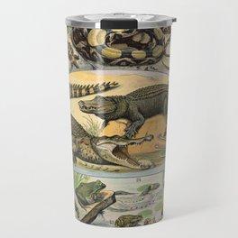 Adolphe Millot - Nouveau Larousse Illustré - Reptiles (1906) Travel Mug
