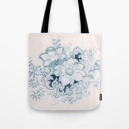 Vintage Flower Flow Tote Bag