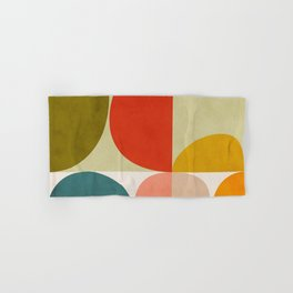 shapes of mid century geometry art Hand & Bath Towel