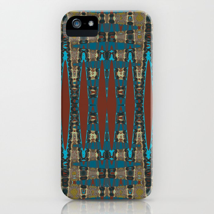 South Western Color Palette Mosaic Pattern iPhone Case
