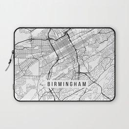 Birmingham Map, Alabama USA - Black & White Portrait Laptop Sleeve