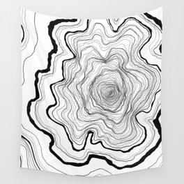 Tree Rings Wall Tapestry