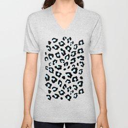 Leopard Print - Icy Peach Unisex V-Neck