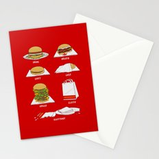 Seven Deadly Hamburgers Stationery Cards