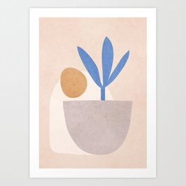 Little Pot Plant Art Print
