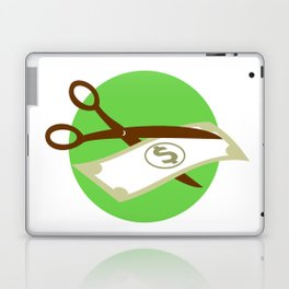 Cutting Dollar Bill With Scissors Retro Laptop & iPad Skin