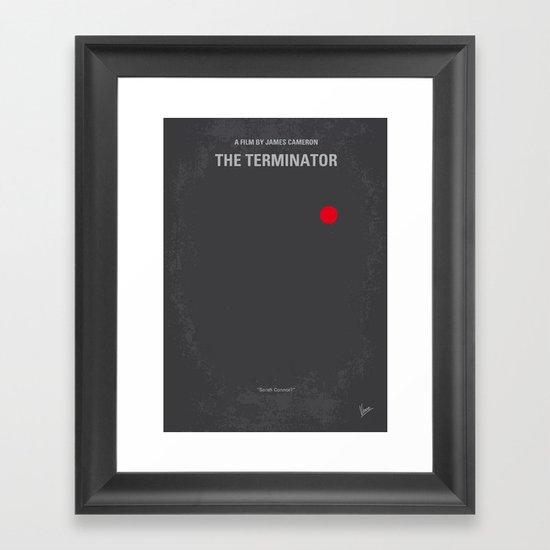 No199 My Terminator minimal movie poster Framed Art Print