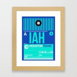 IAH Houston Luggage Tag 2 Framed Art Print
