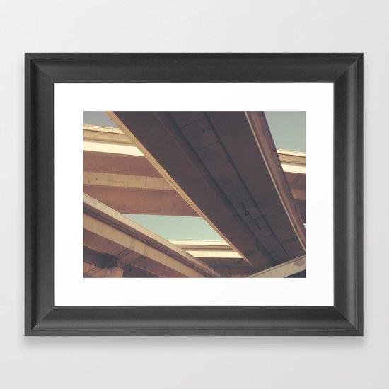 (connect) Framed Art Print