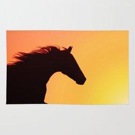 horse silhouette ii Rug