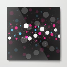 Abstract Colorful Bubbles Metal Print