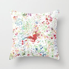 Flowers galore pattern Throw Pillow