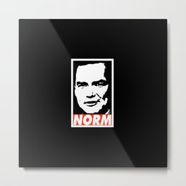Norm Metal Print