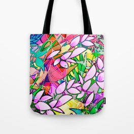 Grunge Art Floral Abstract G130 Tote Bag