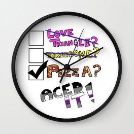 Aced It Wall Clock