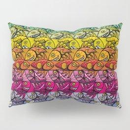 Escher FIsh Rainbow Pattern Pillow Sham