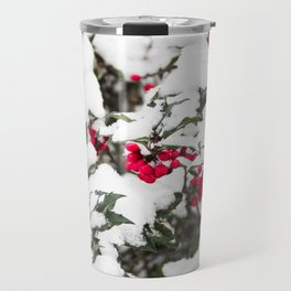 SNOW COVERED HOLLY Travel Mug