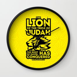 The Lion of the tribe of Judah, the Root of David, has triumphed. Wall Clock