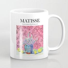 Matisse - Lemons against Pink Background Coffee Mug
