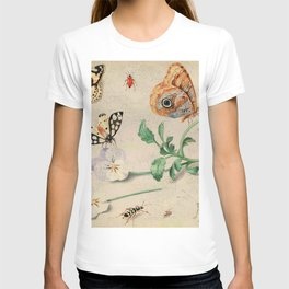 """Jan van Kessel de Oude """"Study of insects and flowers"""" T-shirt"""