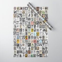 1980's Vintage Punk Flyers Wrapping Paper