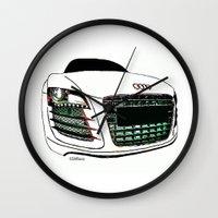 audi Wall Clocks featuring Zaklassic - Z-06 by Zak Ashton