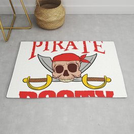 """""""Boney Ship Wreck Skull""""Just Another Pirate Looking For Booty' T-shirt Design Spooky Creepy Rug"""
