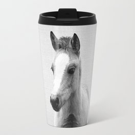 Baby Horse - Black & White Travel Mug