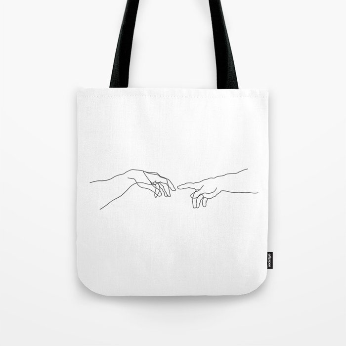 Creation of Adam Minimal Drawing Tote Bag