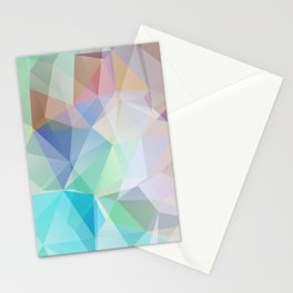 Delicate green polygonal pattern . Stationery Cards