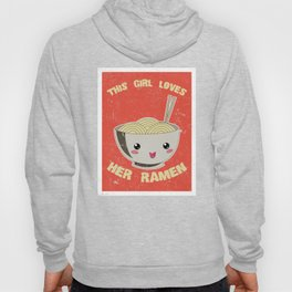 This Girl Loves Her Ramen Japanese Noodles Lover Vintage Retro Hoody