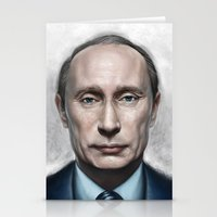 putin Stationery Cards featuring Vladimir Putin by Pavel Sokov
