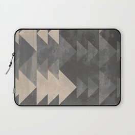 Geometric triangles abstract pattern - Gray tones & Beige Laptop Sleeve